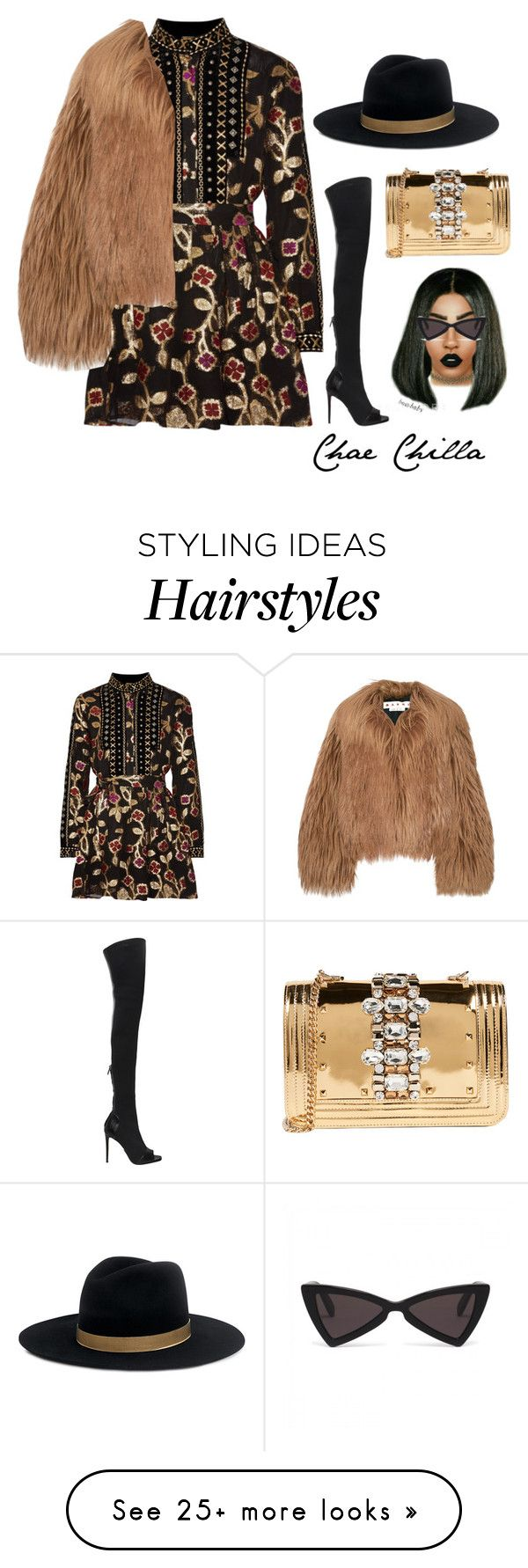 """""""Untitled #4490"""" by prettyassprince on Polyvore featuring Dodo Bar Or, Balmain, Janessa Leone, GEDEBE and Marni"""