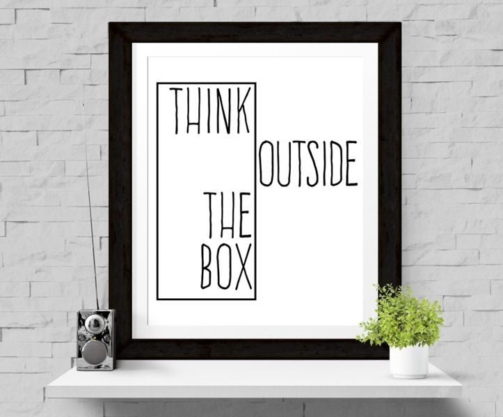 Print 'Think outside the box' Print A4 SALE from Paperblooming by DaWanda.com