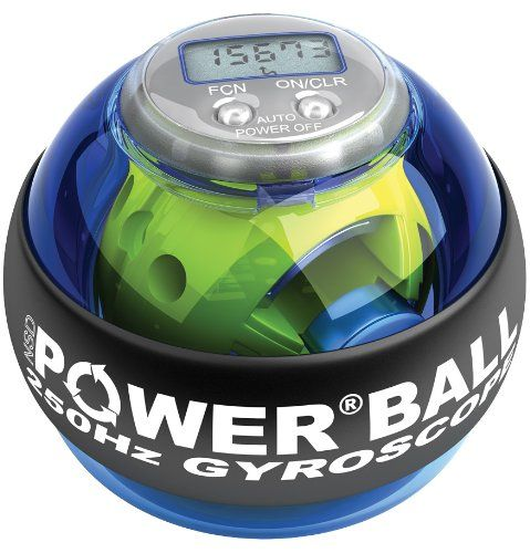 Exercise & Fitness: Powerball Blue Pro 250 Hz - Blue Exercise Ball Hand Exerciser