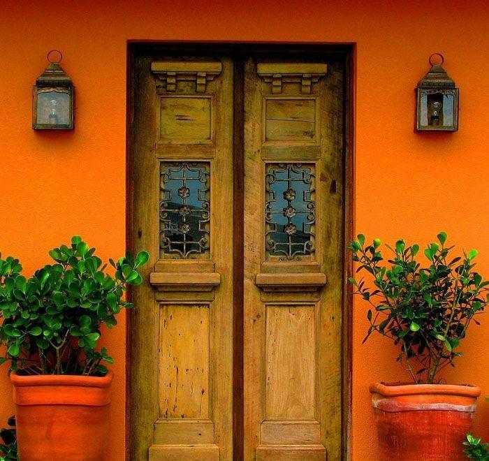 orange: The Doors, Window, Orange Doors, Color, Rio De Janeiro, Front Doors, Orange Houses, Wooden Doors, Wood Doors