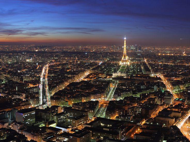 Paris Overview HD Wallpaper Wide