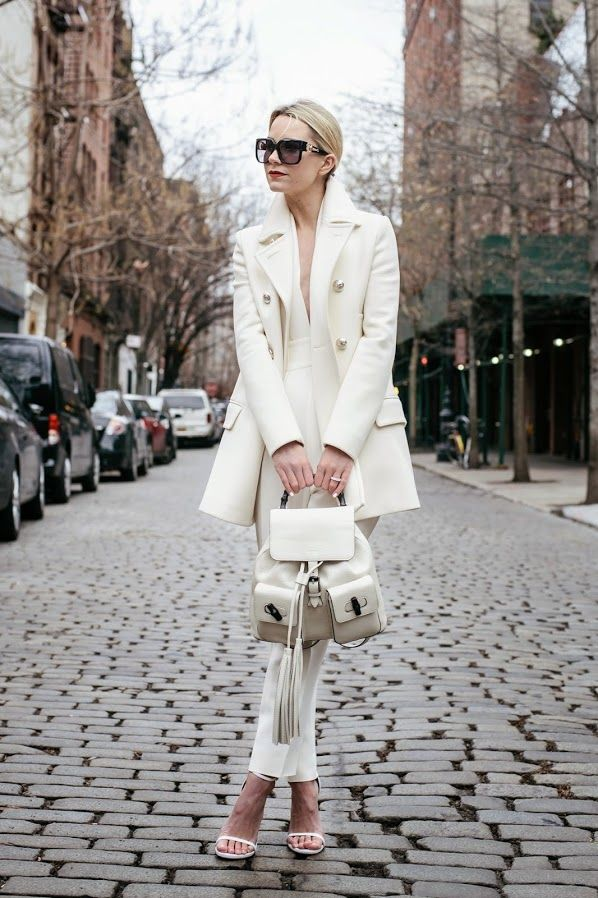// one // Jumpsuit: Gucci. Jacket: Gucci. Shoes: Stuart Weitzman. Backpack: Gucci. Sunglasses:...#thedallylady www.thedailylady.eu