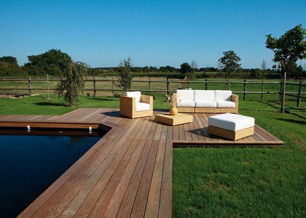 plages de piscine en bois pools pool houses pinterest. Black Bedroom Furniture Sets. Home Design Ideas