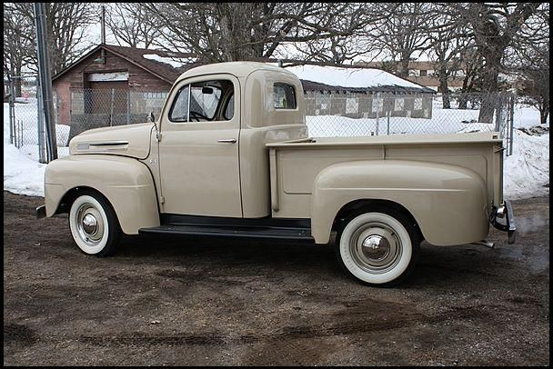 1950 Ford F1 Pick Up Imagine Eggshell Blue And Keep The White Wall Tires My Car Fordclassiccars Pickup Trucks Ford Trucks Vintage Trucks