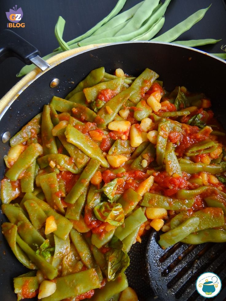 fagiolini piatti al pomodoro