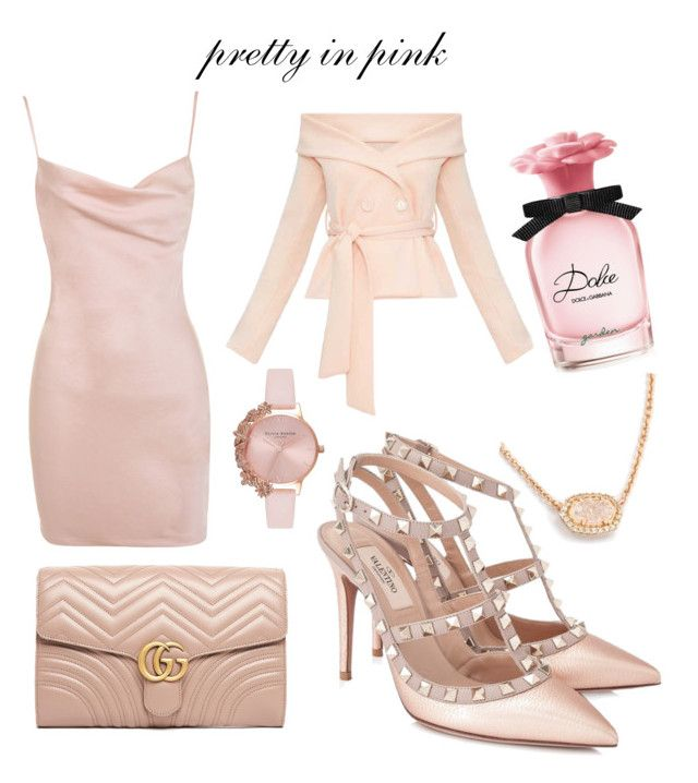 """""""pretty in pink"""" by larisamarin on Polyvore featuring Valentino, Gucci, Olivia Burton and Dolce&Gabbana"""