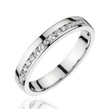 Alliances Mariage Alliance diamant or blanc Dayna 774€