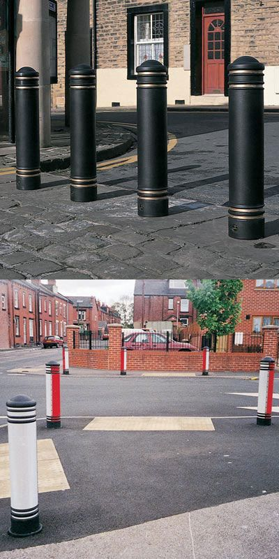 Jubilee™ Bollard - A design to replicate cast iron styling, rebound or rigid Jubilee bollard offers the greatest variety of banding options to enhance the visibility of traffic calming measures. #GlasdonUK #Bollards #RoadSafety  #HighwaysSafety