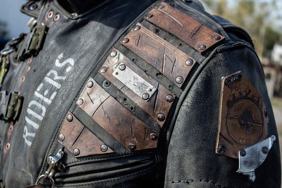 Post apocalyptic wasteland leather jacket by 4ridersclothing / men's fashion / cosplay / LARP / Mad Max