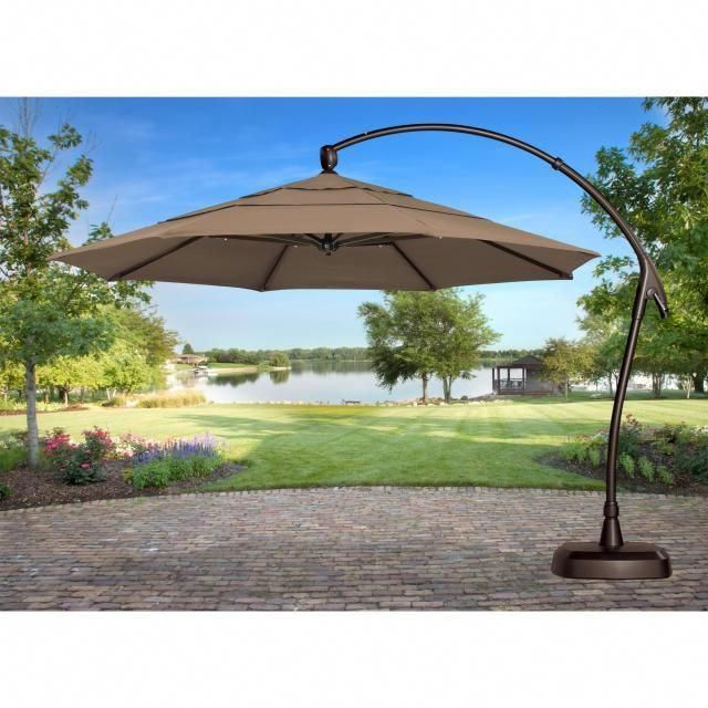 40 Enchanting Outdoor Patio Decor Ideas With Patio Umbrellas Target 25 Patiodecor Patio Umbrella Large Patio Umbrellas Patio