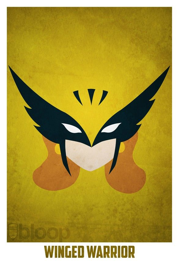 Bloops superhero posters - HawkGirl
