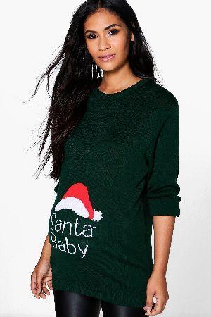 "boohoo's ""Maisie"" Santa Baby Christmas Maternity Jumper"