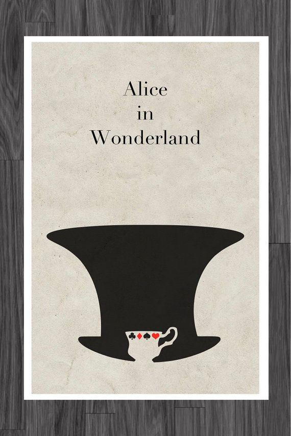 Alice in Wonderland Fairy Tale Poster Art 11x17 by adesigngeek, $14.99