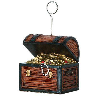 The Beistle Company Treasure Chest Photo/Balloon Holder