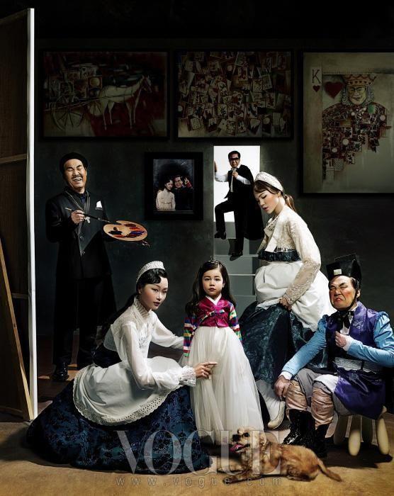 Versió coreana de Las Meninas,de Velázquez