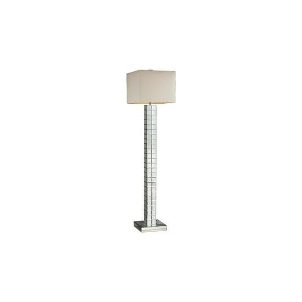 Dimond Lighting Dimond Luella Mirrored Floor Lamp ($518) ❤ liked on Polyvore featuring home, lighting, floor lamps, cream lamp, mirrored floor lamp, soft white lights, cream floor lamp and alabaster lighting