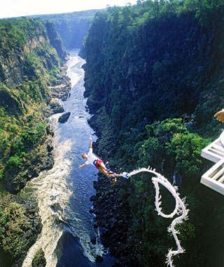 Bungee jump Victoria Falls