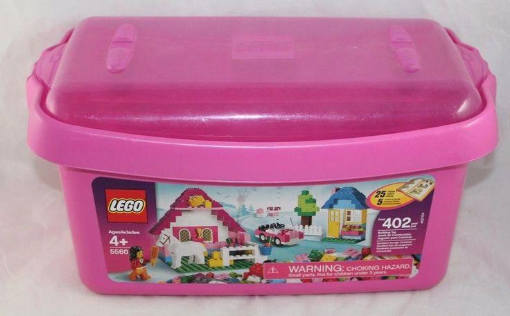 LEGO Pink Brick Box Large (5560) BOX ONLY EUC  #LEGO