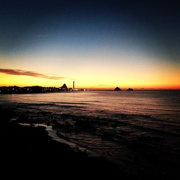 New Plymouth at sunset