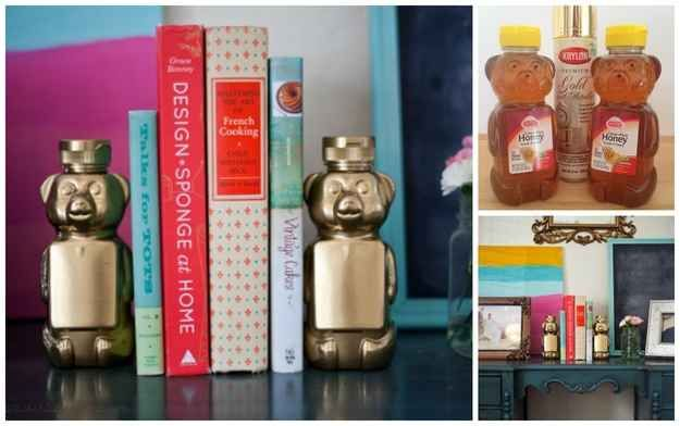 Honey Bears   23 Lovely DIY Bookends To Adorn Your Shelves