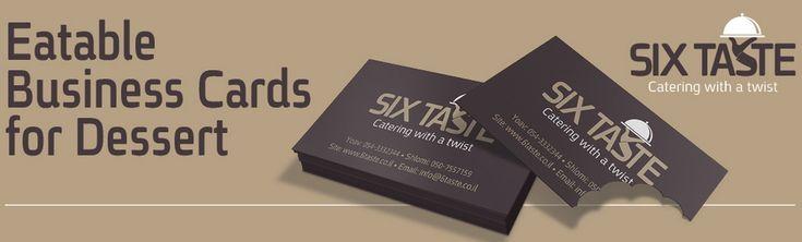 Six Taste Catering : Eatable business cards for dessert