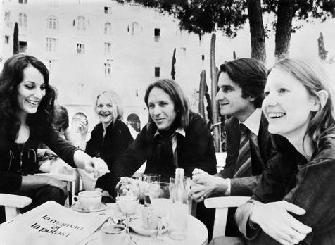 L'equip de La Maman et la Putain (Eustache), el 1973, al Festival de Cannes