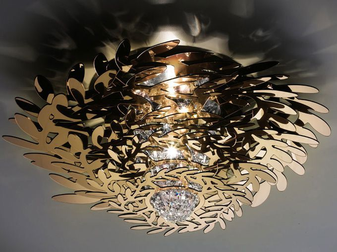 47 best flush lights images on pinterest flush ceiling lights flush ceiling light in gold coloured cristalflex with 97 clear crystals to make a aloadofball Choice Image