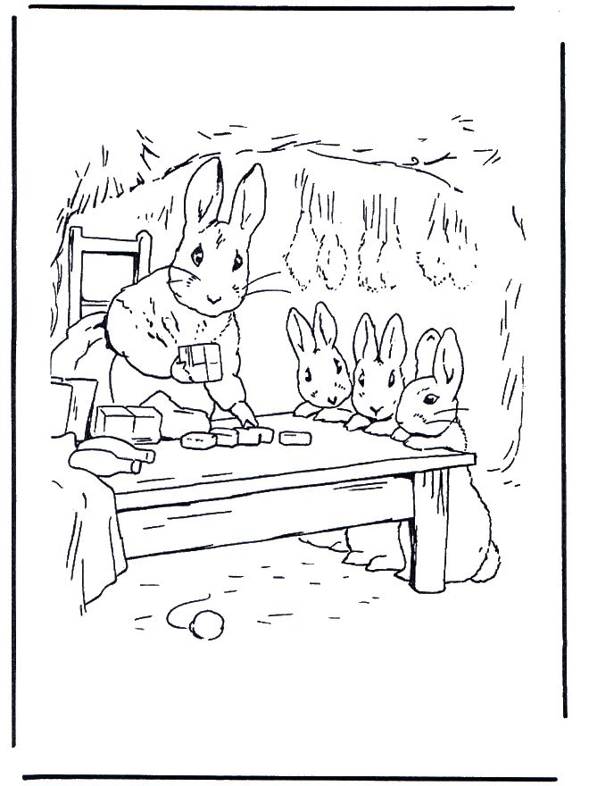 mother rabbitcute for coloring Vintagey Prints