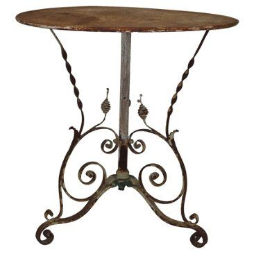 17 Best Images About Wrought Iron Tables On Pinterest