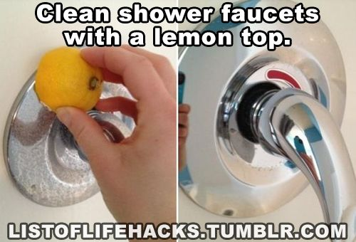 Clean Shower Faucets With A Lemon Top List Of Life