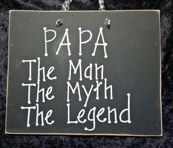 Dad Papa Grandpa sign the man mythlegend unique mens by kpdreams
