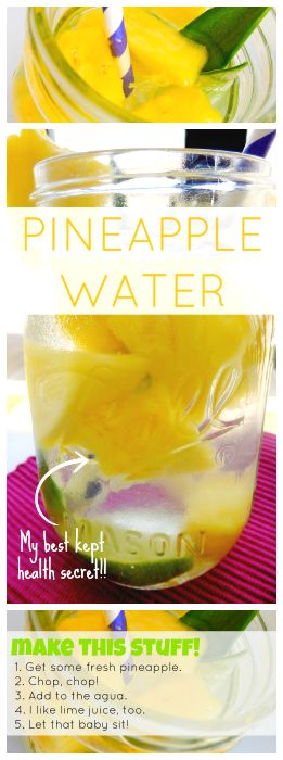 How to: Make Pineapple Water. A quick easy recipe that has so many health benefits. My next cleanse! | Mommie and Wee