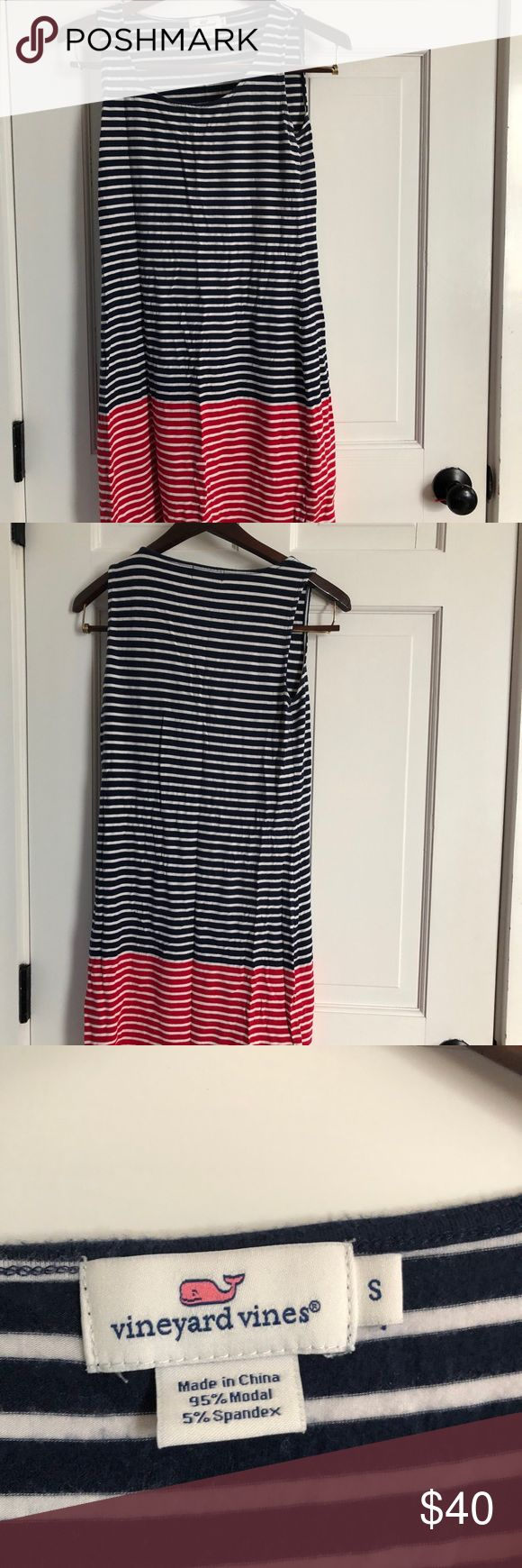 Vineyard Vine red, white, and blue dress Vineyard vines S incredibly soft dress. Red, white, and blue stripes. Perfect for summer barbecues! Vineyard Vines Dresses Mini