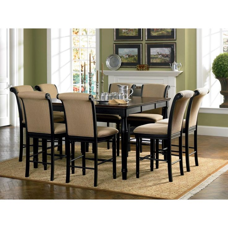 This Rich Cappuccino Finish Counter Height Dining Table Features An  Extension Leaf Which Extends The Length Up To 60 Inches. The Table Has A  Carved Apron, ...