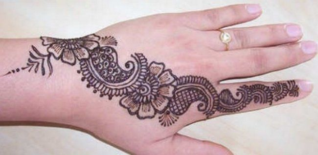 Latest Simple Mehndi Designs For Hands 2012 Images