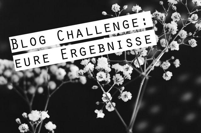 Die ersten Beiträge für meine Blog-Challenge sind eingegangen. Nachzulesen in folgendem Post>>