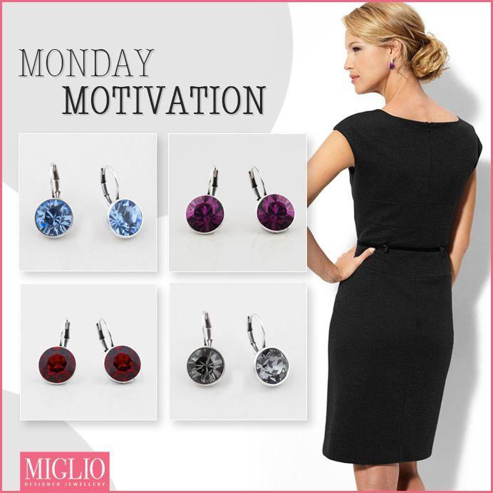 #corporate wear  #inspiration - #colour #swarovksi crystal #earrings