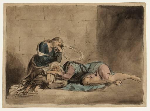 William Blake, Lear and Cordelia in Prison (c. 1778-80)