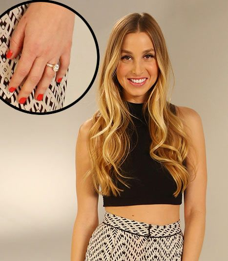 Whitney Port just got engaged to her boyfriend Tim Rosenman.  While proposing in Australia, Rosenman presented the 28-year-old designer with a gorgeous oval stone, rose gold band with three rows of diamonds.