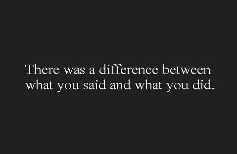 Actions speak louder