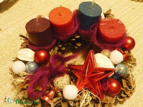 Adventi,karácsonyi koszorú,asztaldísz (galamb70) - Meska.hu