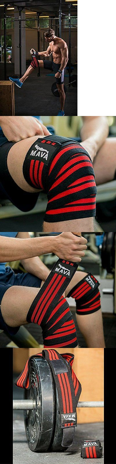 Wrist and Knee Wraps 179821: Knee Wraps With Velcro For Gym Workout Weightlifting Cross Training Fitness -> BUY IT NOW ONLY: $34.3 on eBay!