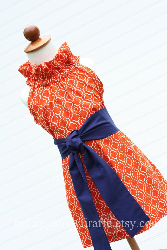 kids toddler girls auburn dress