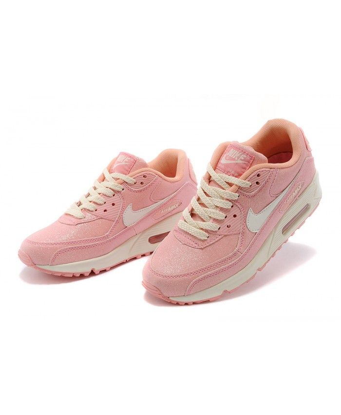 hot sale online ee9c4 7ef1a Nike Air Max 90 Womens Sequins Pink White Running Shoe Sale UK ...
