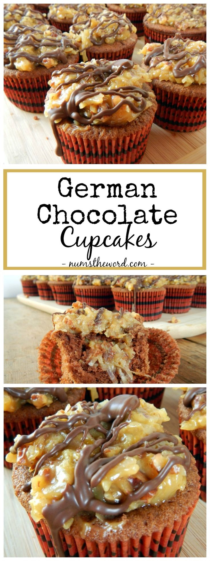 These German Chocolate Cupcakes are a favorite of ours. Easy to make and oh so yummy! Our favorite Chocolate cupcake topped with German Chocolate Frosting!                                                                                                                                                     More