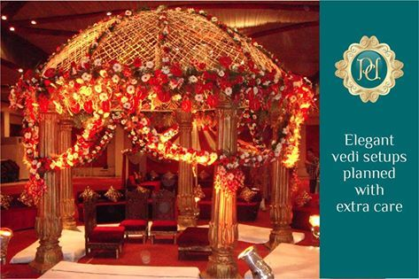 #Beautifully #Designed #Vedi #Setup by #Pandhi #Decorators. Just click on the link and book right now: http://goo.gl/b8Yj6q