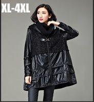 Нравится2015 осень зима женский платье-линии плащ мода женщины искусственная лоскутная пиджаки Большой размер с капюшоном свободного покроя блузка вспышки topXXXXL3258