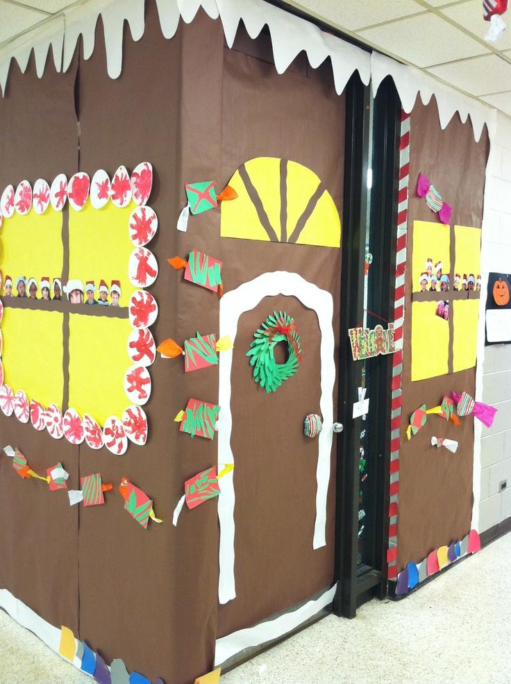 Gingerbread classroom door My door this year.