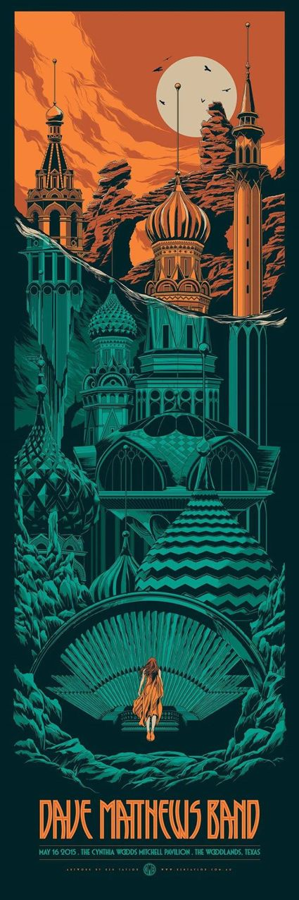 WOW, another amazing Ken Taylor poster for Dave Matthews Band. 12″ x 36″ screenprint.