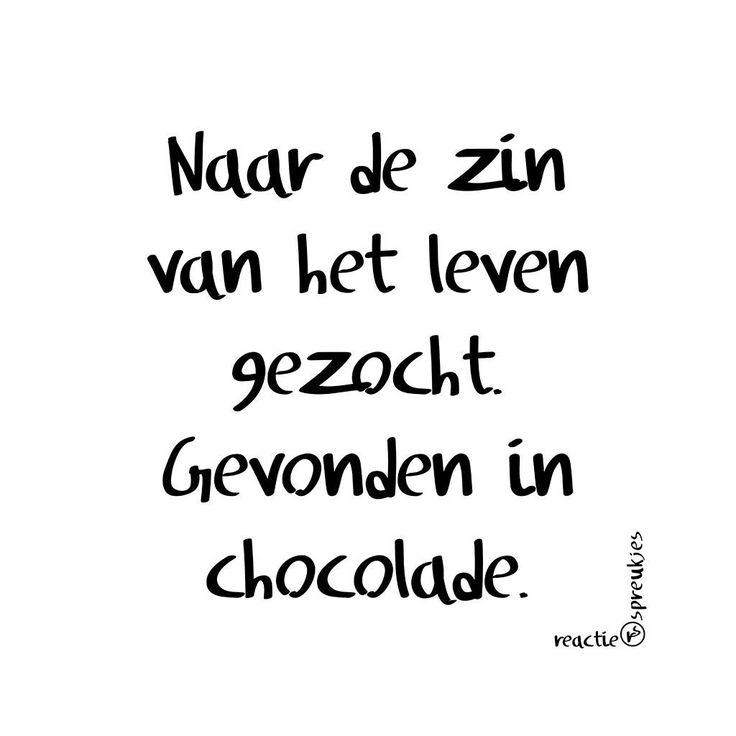 De zin van het leven gevonden in chocolade